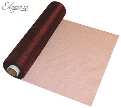 29cmx25m Organza Fabric Sheer Roll Burgundy