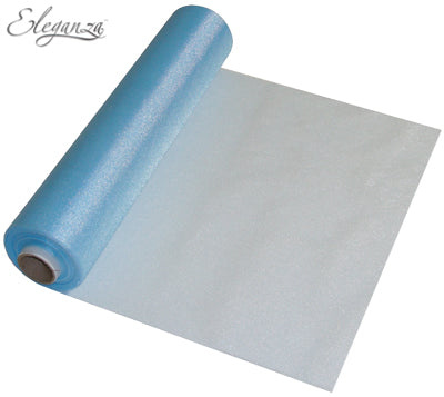 29cmx25m Organza Fabric Sheer Roll Baby Blue
