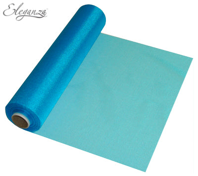 29cmx25m Organza Fabric Sheer Roll Turqouise