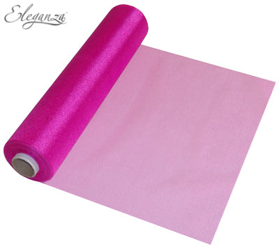 29cmx25m Organza Fabric Sheer Roll Fuchsia