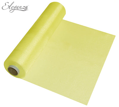 29cmx25m Organza Fabric Sheer Roll Pale Yellow