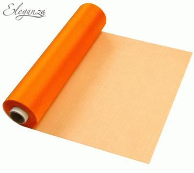 29cmx25m Organza Fabric Sheer Roll Orange