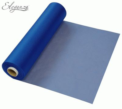 29cmx25m Organza Fabric Sheer Roll Navy