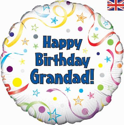"18"" Foil Balloon - Happy Birthday Grandad"