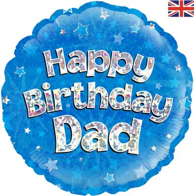 "18"" Foil Balloon - Happy Birthday Dad"