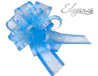 10 Organza Pull Bows - Light Blue