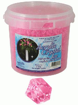 1.24kg of Pink Acrylic Crystal Ice