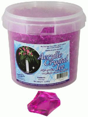 1.24kg of Cerise Acrylic Crystal Ice