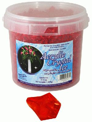 1.24kg of Red Acrylic Crystal Ice