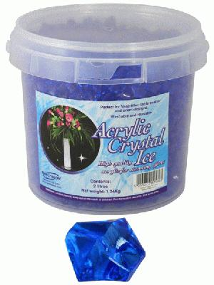 1.24kg of Royal Blue Acrylic Crystal Ice