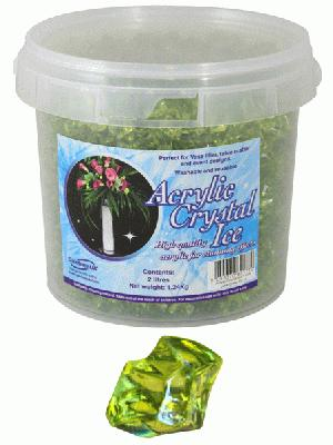 1.24kg of Green (Lime) Acrylic Crystal Ice