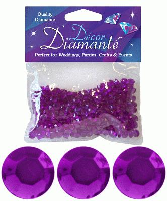 28g of Amethyst Purple Diamante Table Scatters