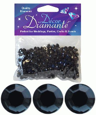 28g of Black Diamante Table Scatters