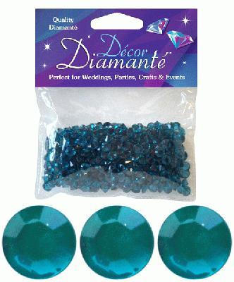 28g of Jade Diamante Table Scatters