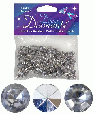 28g of Silver Diamante Table Scatters