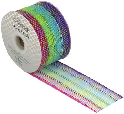 Deco Mesh Colourful Check 63mm x 10m