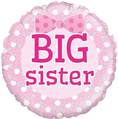 "18"" Round Foil Balloon - Big Sister"