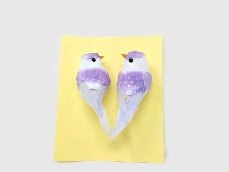 Pack of 2 Mini Bird Clips - Lilac