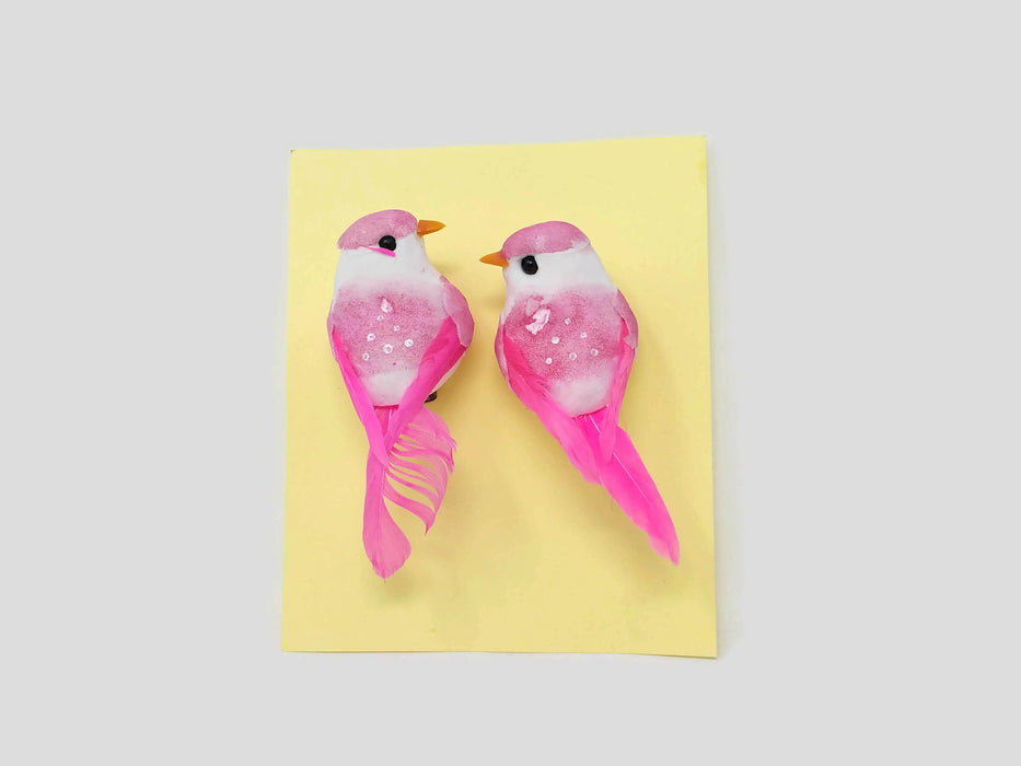Pack of 2 Mini Bird Clips - Pink