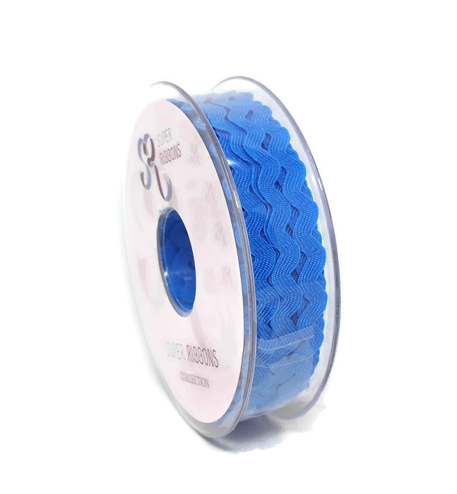 Ric Rac Ribbon Reel - 6mm x 20m - Blue