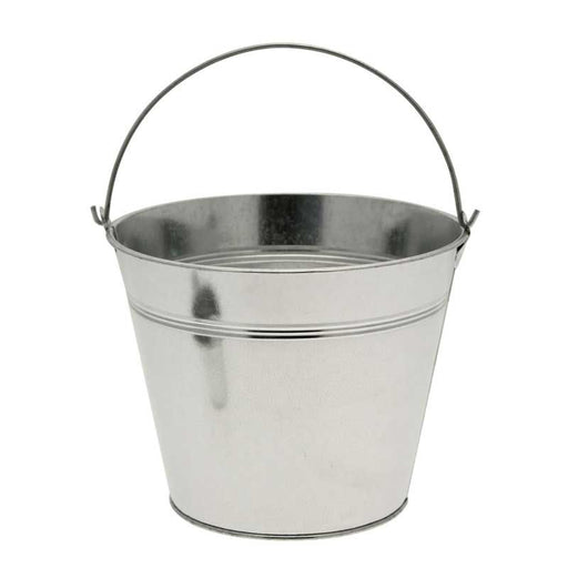 Galvanised Silver Metal Bucket x 15.5cm