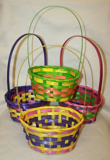 Large Easter egg basket -easter parties bonnets easter parade / colour selected at random
