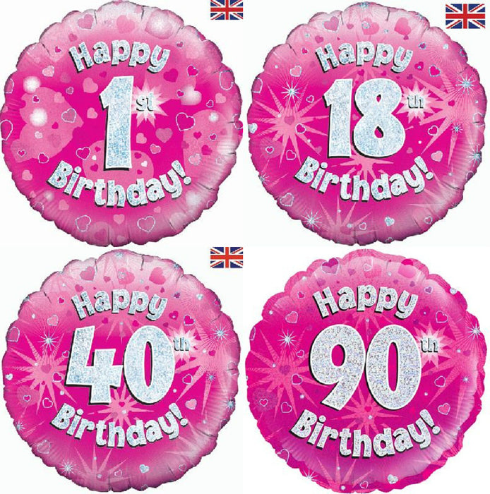"Foil Balloon 18"" Age  - Pink"