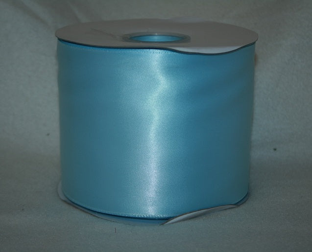100mmx50m satin ribbon BABY BLUE