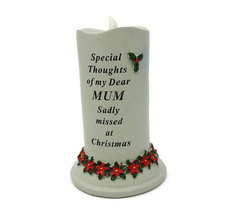 Special Thoughts Memorial Graveside Flickering Candle - Choice of Relative