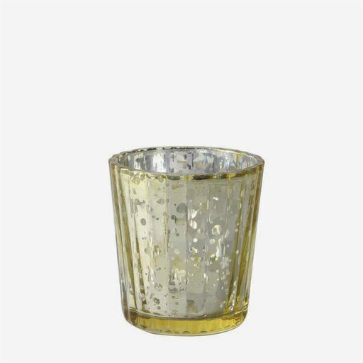 Dappled Gold Glass Votive x 6cm