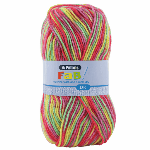 Patons Fab DK Wool x 100g - Clown Colours