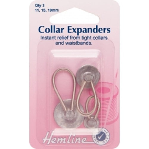 Metal Collar/ Waistband Expanders- Assorted Size - 3pcs