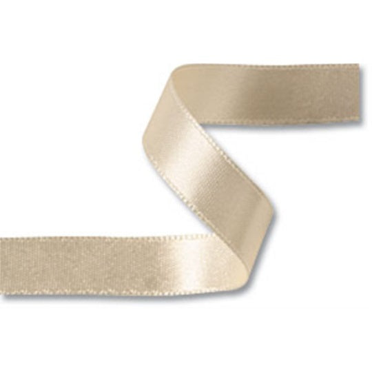 25mm x 20m Double Faced Cream Satin Ribbon