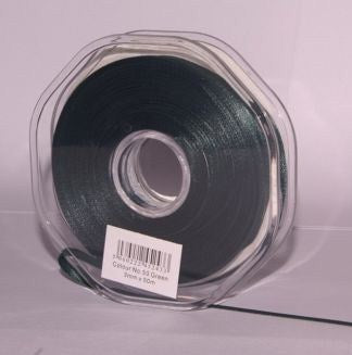10mm x 20m Double Faced Green Satin Ribbon