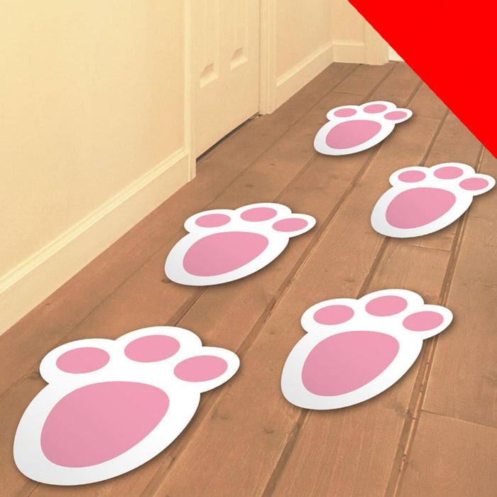 15PK Easter Bunny Footprints