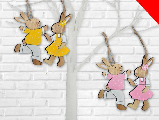 Hanging Wooden Polka Dot Bunny - Colour Picked at Random