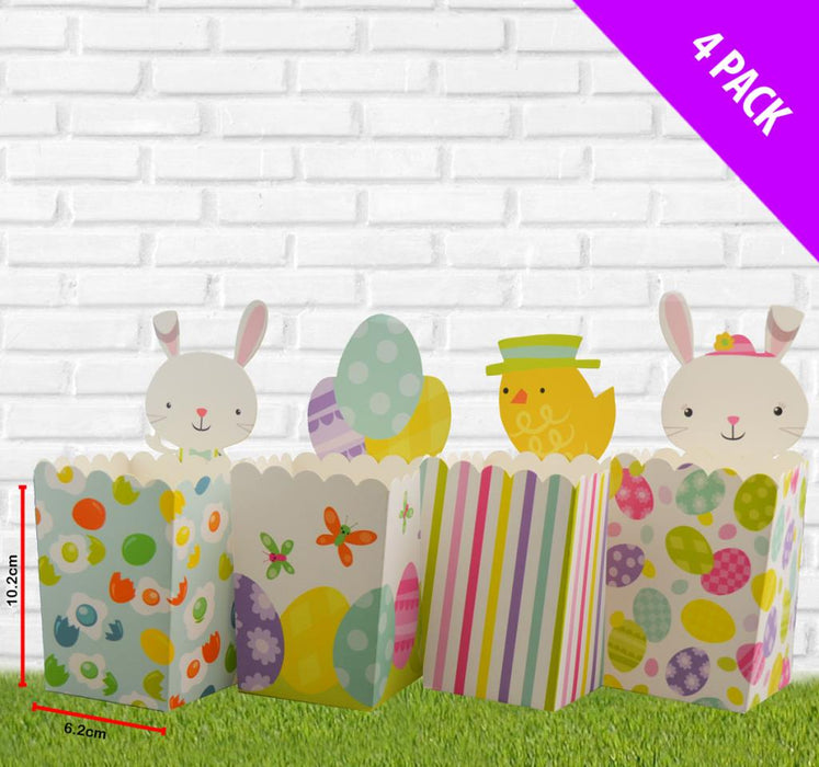 Pack of 4 Small DIY Easter Boxes x 10.2cm