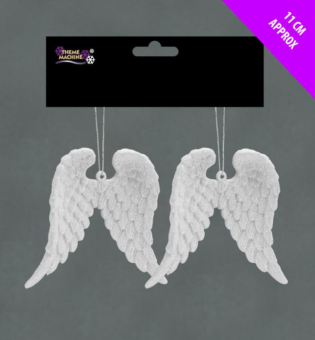 2 Glitter Angel Wings