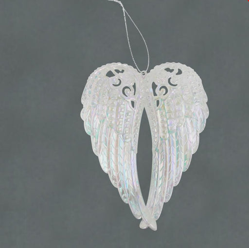 15cm Iridescent Hanging Angel Wings