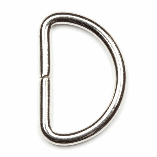 D-Ring Buckles 4pcs x 25mm - Nickel Silver