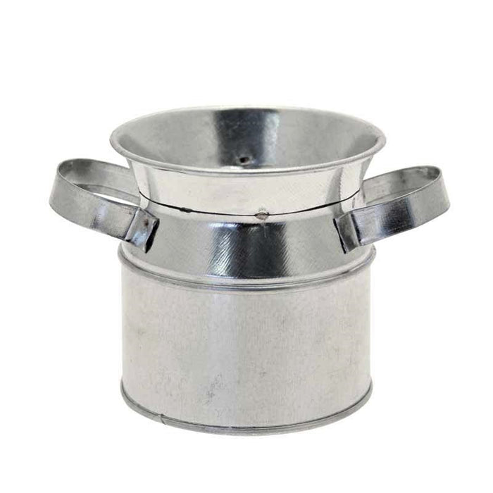 Small Silver Galvanised Metal Urn 7cm