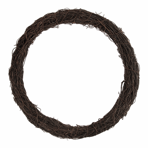 Dark Rattan Wreath Base x 30.5cm/12in