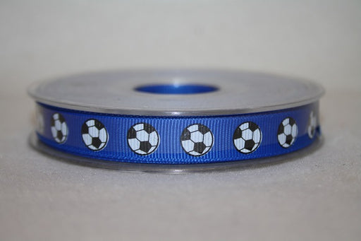 12mmx20m grosgrain  football ribbon blue L434