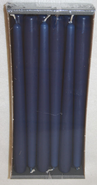 250mm x 23mm tapered dark blue candles x12