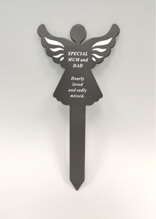 Plastic Black Angel Spike - Special Mum & Dad