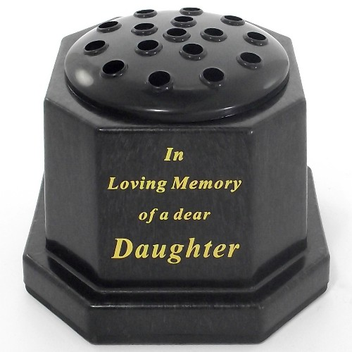 Black In Loving Memory Daughter Memorial Pot