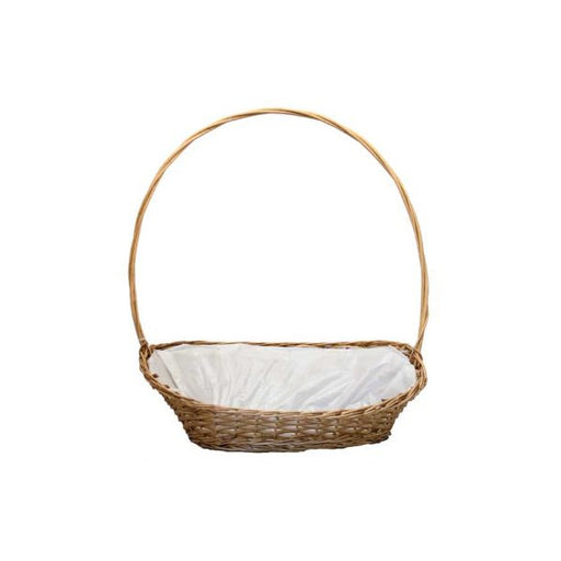 Large Oval Manhattan Lined Wicker Display Basket x 21""