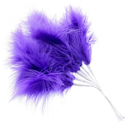 Fluffy Purple Feathers x 6