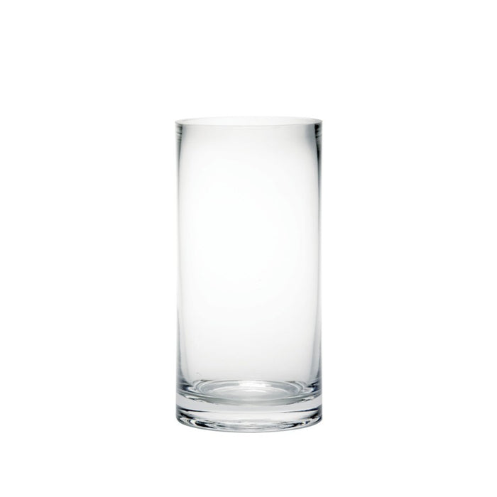 Clear Glass Cylinder Vase 20 x 10cm