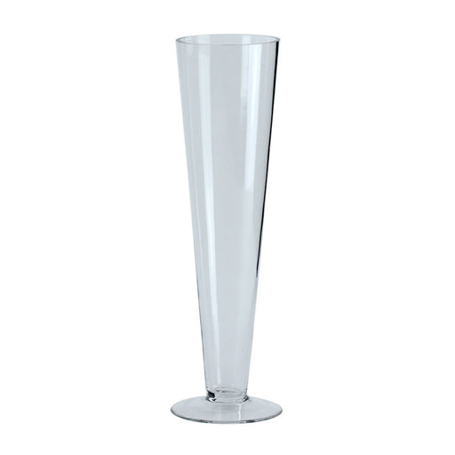 Clear Glass Conical Vase x 40cm